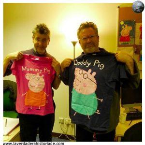 Neville Astley y Mark Baker creadores de Peppa Pig