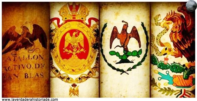 la evolucion de la bandera de Mexico
