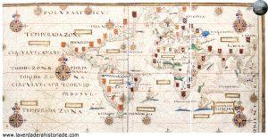 mapa del descubrimiento de america