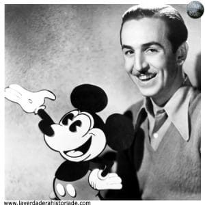 Walt Disney con Mickey Mouse
