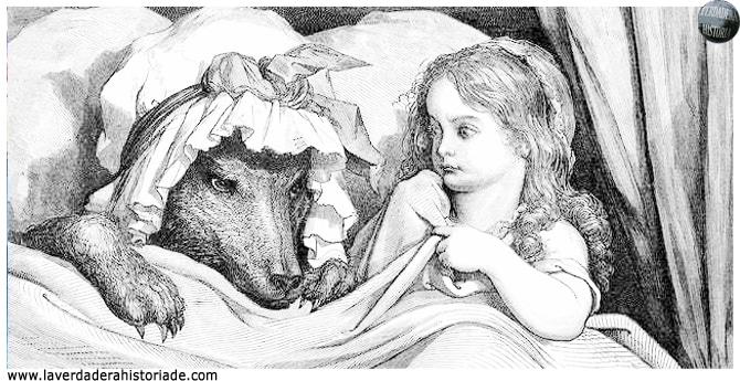 el lobo hace que Caperucita suba a la cama con él