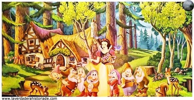 los enanos están representados con coloridas capuchas tal como las que llevaban los mineros cerca de la ciudad de Lohr
